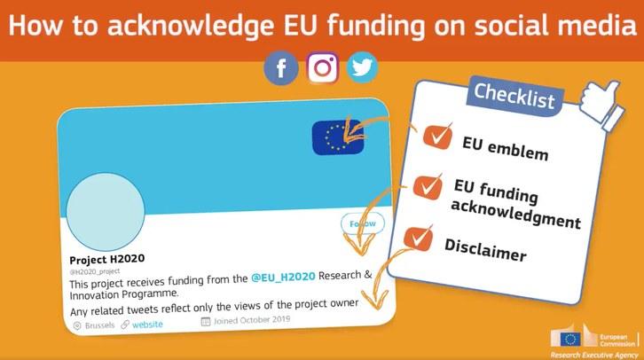 Requeriments de la CE en xarxes socials de projectes RDI