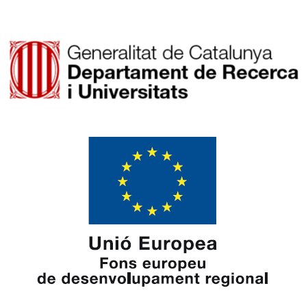 Emblemes de la Generalitat de Catalunya i del Fons de Desenvolupament Regional de la Unió Europea